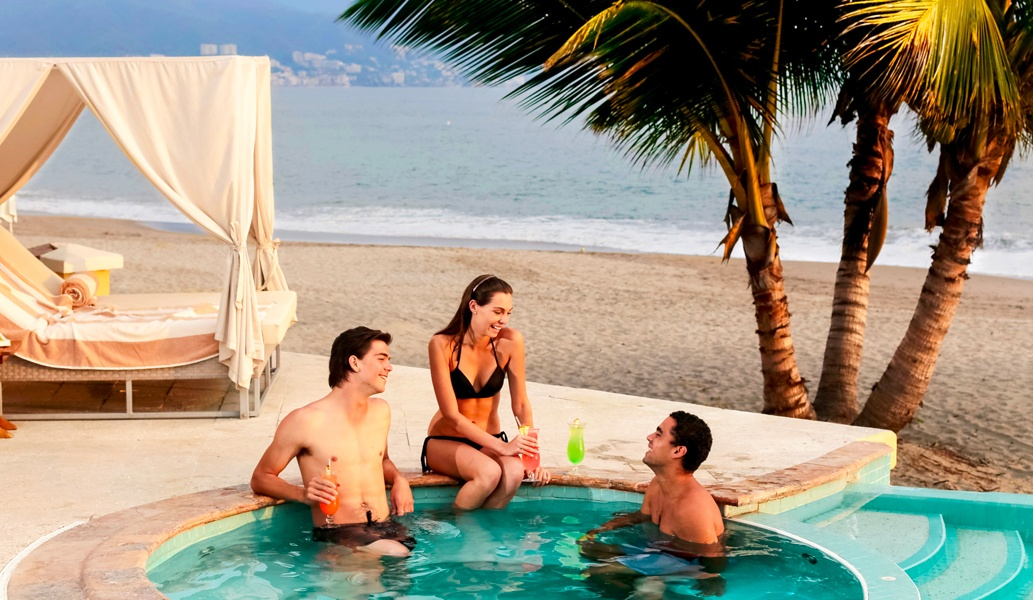 Private Beach Club at Casa Velas Hotel, Puerto Vallarta